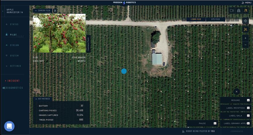 Freedom Robotics GPS Map View