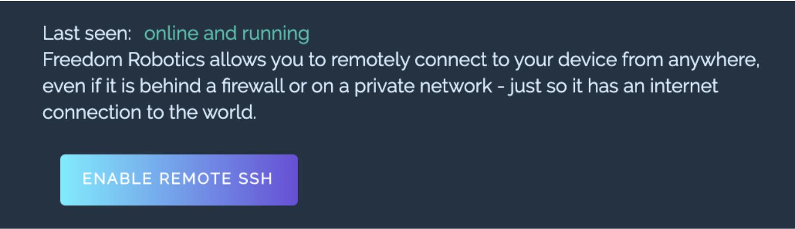 Enable Remote SSH